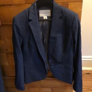 Smart blue suit jacket.